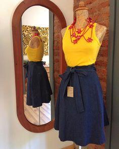 Nuevas faldas envolventes! Tenemos de mezclilla gabardina y algodón. Y por supuesto tienen bolsillos  #regalalocal #tiendadediseño