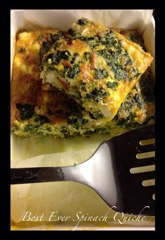 Best Ever Spinach Quiche #Banting #Paleo