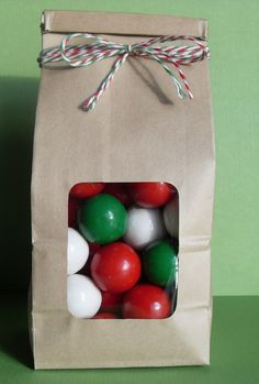 Brown paper bag with window- great presentation idea for homemade gifts.