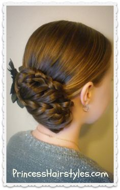 Braided updo, Prom hairstyle video tutorial