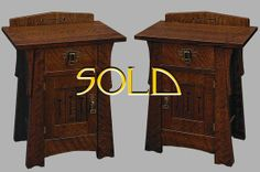 Arts and Crafts Mission Pair of matched Mackintosh by DRYADSTUDIOS, $4775.00