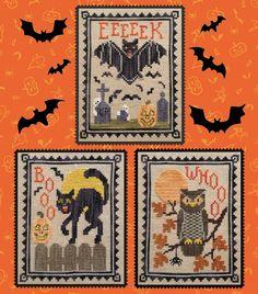 Counted Cross Stitch Patterns, Cross Stitch Charts, Cross Stitch Designs, Cross Stitch Embroidery, Embroidery Patterns, Hand Embroidery, Fall Cross Stitch, Halloween Cross Stitches, Halloween Embroidery
