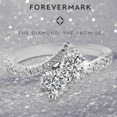 We are so excited to present Forevermark's newest Ring: the Ever Us Two-Stone Diamond Ring! The Ever Us Engagement Ring is the only two-stone ring that features two world-renowned Forevermark Center Diamonds and an 18k White Gold setting. This holiday season, give her a ring that will light up her smile forever!