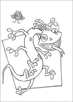 Coloriage Dessins. Dessins à imprimer et la couleur en ligne. Monstres et Cie - Academy 58