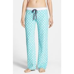 Women's PJ Salvage Print Thermal Pants ($27) ❤ liked on Polyvore featuring pants, pajamas, bottoms, p.j. salvage, blue pants, print trousers, thermal pants and blue print pants
