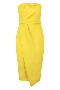 Red Formal Dresses, Posh Dresses, Nice Dresses, Clubbing Outfits Classy, Casual Outfits, Bodycon Fashion, Fashion Dresses, Yellow Dress, Yellow Outfits