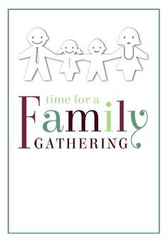 Tree with heart ornate frame family reunion invite | Pinterest ...