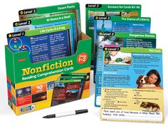 Nonfiction Reading Comprehension Cards - Gr. 1-2 at Lakeshore Learning