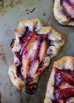 Plum Tartlets with Cinnamon-Rye Crust #recipe