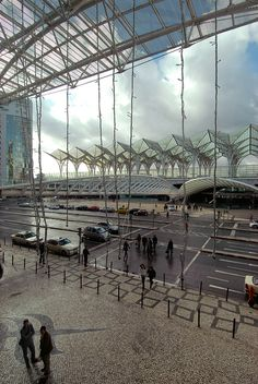 Lisbon, Portugal -Santiago calatrava train station - architecture by Lucie Maru, via Flickr
