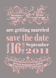 Save the Date - a custom printable digital