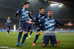 BASEL, SWITZERLAND - FEBRUARY 18: Danilo ® of FC Porto... #porto: BASEL, SWITZERLAND - FEBRUARY 18: Danilo ® of FC Porto celebrates… #porto