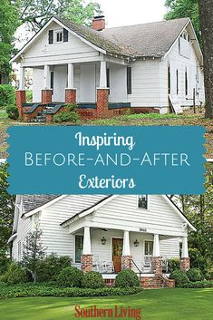 Before-and-After Home Exteriors | These before-and-after exterior makeovers will give you all the inspiration you need to spruce up your curb appeal.