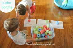 Counting and Color Sorting With Pool Noodles by FSPDT