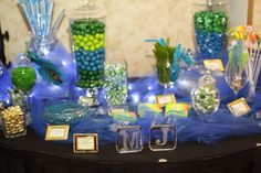 Candy bar... blue/green theme