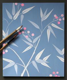 This beautiful surface pattern was designed by Rachel Spelling in response to her time painting the epic Chinese wallpaper at Pitzhanger Manor, Sir John Soane's country house in Ealing, London. It can be ordered by the square metre and can be painted on or off-site. Scale and background colour can be adapted to suit the room. For more info see www.studiospelling.com. Wallpaper Backgrounds, Colorful Backgrounds, Chinese Wallpaper, Background Colour, Chinoiserie Wallpaper, Time Painting, Great Friends, Surface Pattern, Textures Patterns