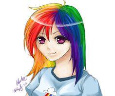 Anime Rainbow Dash