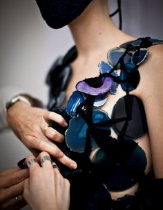 Backstage at Maison Martin Margiela 'Artisanal' Haute Couture