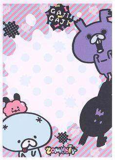 black Zombbit zombie rabbit Nonbi Note Pad sticker 3