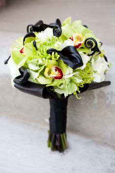 modern black calla lily green orchid wedding bouquet utah wedding flowers calie rose
