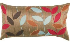 Bold Leaves Pillow - Throw Pillows - Decorative Pillows - Home Accents - Home Decor | HomeDecorators.com