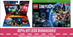CHECK IT OUT!! LEGO Dimensions 40% OFF at Target! Target Deals, One 7, Lego, Baseball Cards, Check, Legos