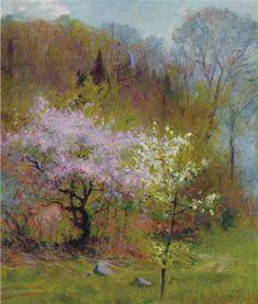 spring trees by robert william vonnoh