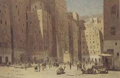 Old picture of Shibam, Yemen.