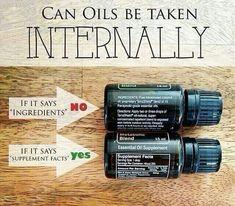 Can oils be taken internally?