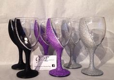 2 seated glitter glasses | eBay