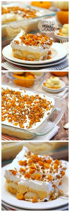 Pumpkin Pie Dessert Lasagna is a fun twist on a Thanksgiving classic! Easy, delicious, and full of pumpkin spice! - The Cookie Rookie