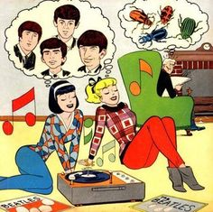 The Beatles in Archie Comics for Betty and Veronica Archie Comics, Old Comics, Vintage Comics, Les Beatles, Beatles Art, Beatles Funny, Beatles Books, Beatles Poster, Beatles Photos
