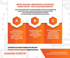 If your business is involved in UK imports and exports, then you need to speak to Jeavons Eurotir. We'll allocate a member of our team specifically to you and your job so that you can easily contact us for any information you require. Contact us today for the best experience with UK importing and exporting! Removal Services, Goods And Services, Globe Business, Moving To The Uk, Freight Forwarder, Rail Transport, International Companies, Shipping Company, Stress Free