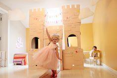 $4 DIY Cardboard Castle