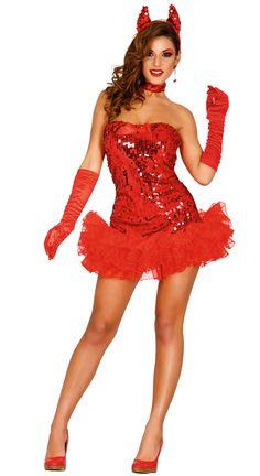 Disfraz de diablesa sexy para mujer para Halloween