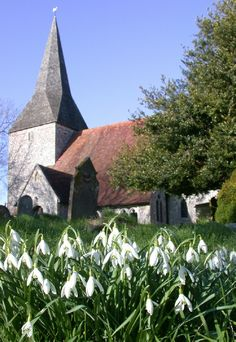 Berwick Church, Sussex, where Duncan Grant was invited to paint a series of murals Dora Carrington, Charleston House, Duncan Grant, Vanessa Bell, Bloomsbury Group, Chichester, Meeting Place, Wall Paintings, Garden Painting