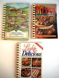 Vintage Cook Book Collection  Lot of 3 by TooTooKute on Etsy, $12.00