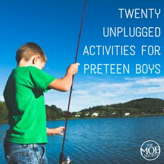 My eleven year old and I brainstormed together and came up with twenty unplugged activities he wants to try this summer! - The MOB Society