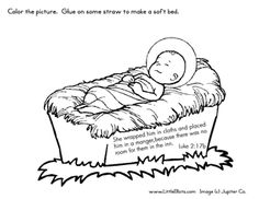 welcome to our bible crafts section weve got lots of fun activities you - Baby Jesus Manger Coloring Page