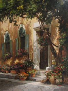 painting by Paul Guy Gantner Acrilic Paintings, Cool Paintings, Beautiful Paintings, Beautiful Landscapes, Naive Art, Urban Landscape, Box Art, Painting Inspiration, Impressionism
