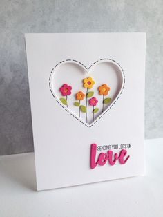 I LOVE the little flowers in the new Simon Says Stamp Mini Flowers and Leaves die set!! These are the cutest flowers...and I love the fa...