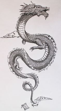 Ancient japanese dragon on Behance                                                                                                                                                                                 More #TattooDesigns