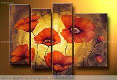 pinturas al oleo abstractas de flores - Buscar con Google