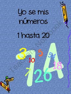 Yo se mis numeros from Kinder Beezy Bee on TeachersNotebook.com (21 pages)  - Numbers 1-20