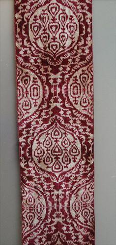 silk and cotton velvet - Alabahman - ikat fabric