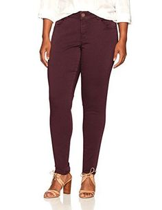 """Lovely Democracy Women's Plus Size 30/10"""" Ab Solution Brushed Stretch Twill -78"""