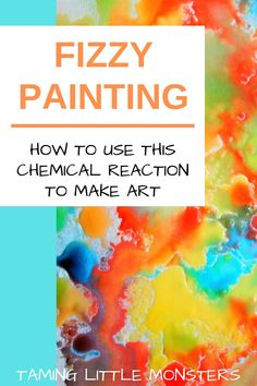 Learn how to turn chemistry into art with this fun fizzy painting STEM activity for kids. Perfect for at home or in the classroom, your toddlers and preschoolers will love developing their fine motor…More Stem Projects, Projects For Kids, Crafts For Kids, Fun Art Projects, Art Project For Kids, Kindergarten Art Projects, Toddler Art Projects, Family Crafts, Summer Crafts