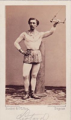 Jules Leotard. Jules (1842-1870) developed trapeze acts as we know them today (and the costume - though calling it a leotard did not catch on until the 1880s). He was the son of a gymnastics instructor and was poised to enter Law. However, his love of and awesomeness in acrobatics led him to his first performance, in 1859 in the Cirque Napoleon.