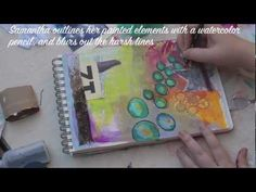 Great #artjournaling video from Samantha Kira Harding! Love the addition of the gears!