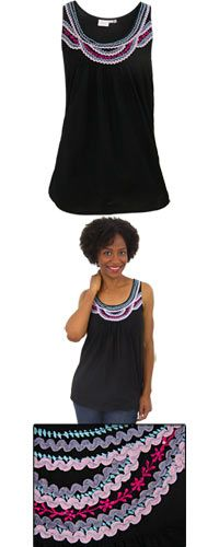 Sunset Sky Sleeveless Tunic at The Breast Cancer Site